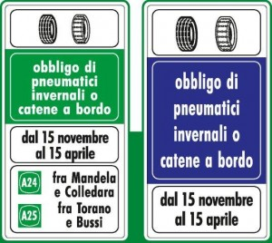 immagine cartello obbligo pneum invernali